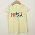 【セール30%OFF】(春夏)nino(ニノ) MERCITシャツ イエロー 130cm 140cm    【おまかせ配送で送料お得】