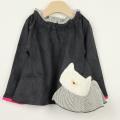 【セール20%OFF】(秋冬)Gemeaux(ジェモー) ネコポケットトレーナー クロ 90cm 100cm 110cm