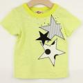 【セール10%OFF】A-MACH(マッハ) 星アップリケ半袖Tシャツ キミドリ 90cm 100cm 110cm   【おまかせ配送で送料お得】