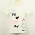 【セール15%OFF】(春夏)KP(ニットプランナー)  リボンミミちゃんTシャツ オフシロ 140cm     【送料無料】