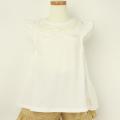 【セール15%OFF】(春夏)Lily ivory(リリイアイボリー) 天竺半袖Tシャツ オフホワイト 110cm 120cm 130cm