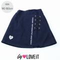 【2021年春夏新作】by LOVEiT(バイラビット) レースアップ スカパン スカート パンツ キュロット シンプル ライン  140cm 150cm 160cm