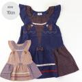 \ジャストサイズアイテム10%OFF SALE/【572】Souris(スーリー)リス刺繍 ジャンパースカート  コン 110 ピンク 110 /定価\7,590