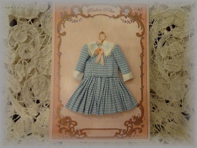 少女ドレス ブルーチェック