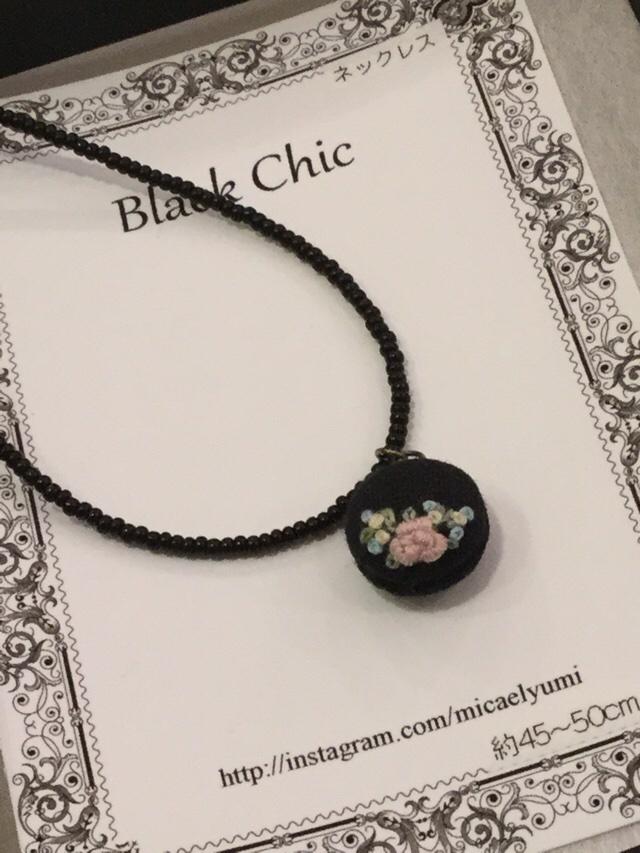 Black Chic ネックレス 小さなバラの想い
