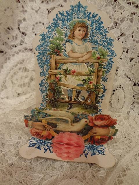 立体カード 少女