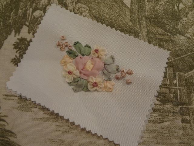 リボン刺繍パーツC