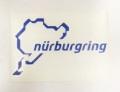 Nurburgring Official ニュルブルクリンク ステッカー 12cm ブルー NRA9926A
