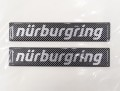 Nurburgring Official ニュルブルクリンク ステッカー 10cm ロゴエンブレム カーボンタイプ  NRA9953A