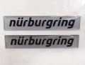 Nurburgring Official ニュルブルクリンク ステッカー 10cm ロゴエンブレム シルバー  NRA9952A