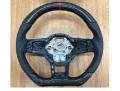 iiD カーボンxパンチングレザー ステアリング VW Golf7 GTI  レッドマーキング&ステッチ