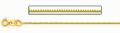 14金イエローゴールドボックスチェーン 0.8ミリ幅 50cm