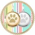 14金の肉球ペンダント 犬