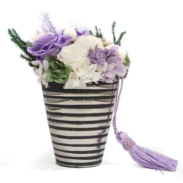 プリザーブドフラワーのお供え花『かたらい』
