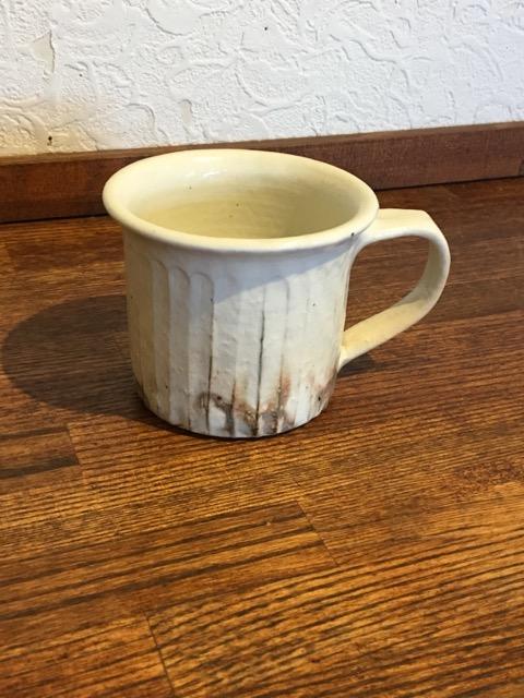 鉄散 マグカップ (切立、線彫)