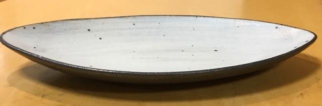 信楽文五郎窯 ひびわれアーモンド皿(M)