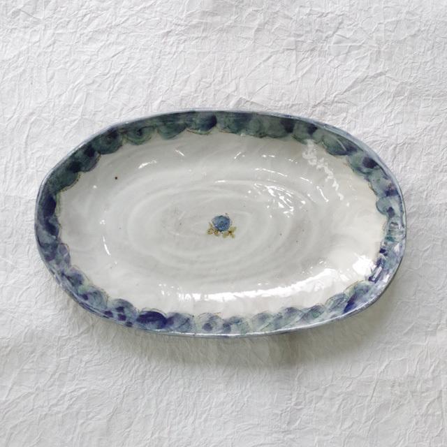 火音陶房 楕円皿 真上