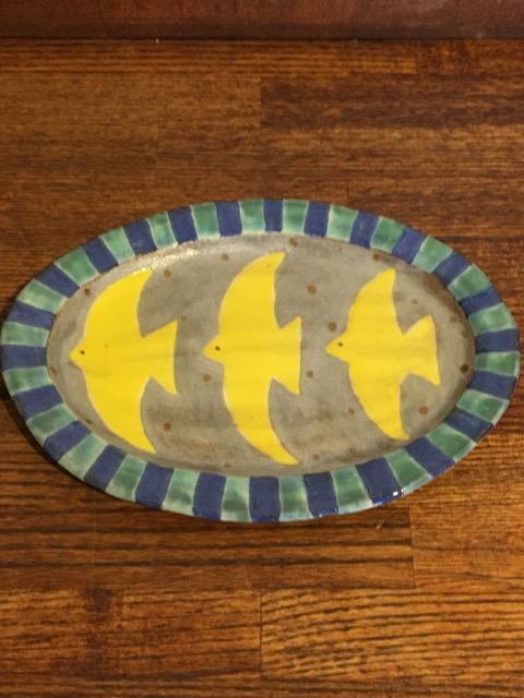 小林美風 楕円皿 とり