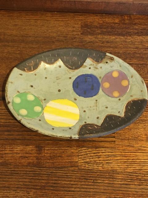 小林美風 楕円皿 風船