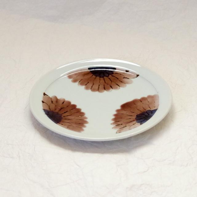 色絵 ガーベラ 5.5寸皿