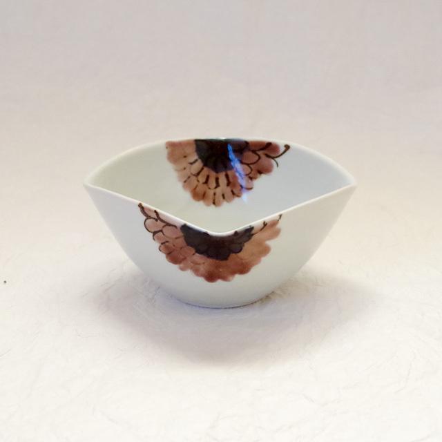 色絵 ガーベラ 四方小鉢