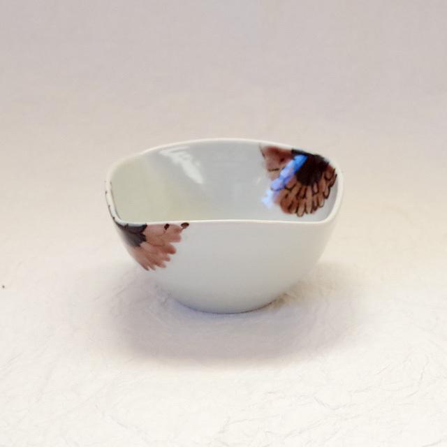 色絵 ガーベラ 四方小鉢2