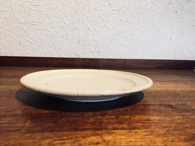 鉄散リム6寸皿 灰(玉渕)
