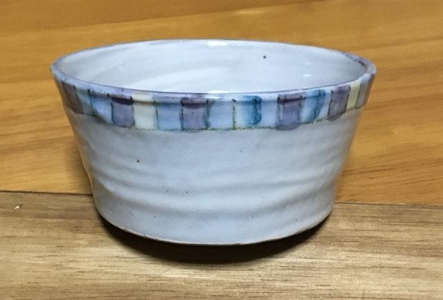 火音陶房 錦文 切立 鉢 ブルー