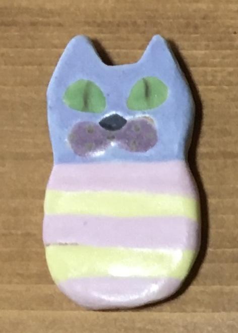 小林美風 ブローチ ネコ