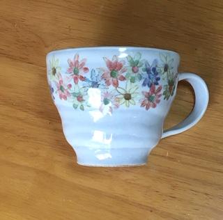 火音陶房 フラワー丸マグカップ