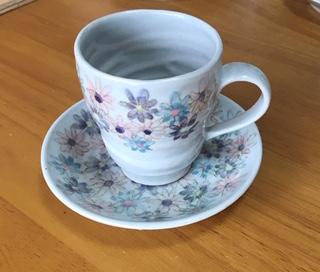 火音陶房 フラワーカップ&ソーサ