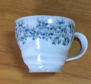 火音陶房 フラワー 丸マグカップ