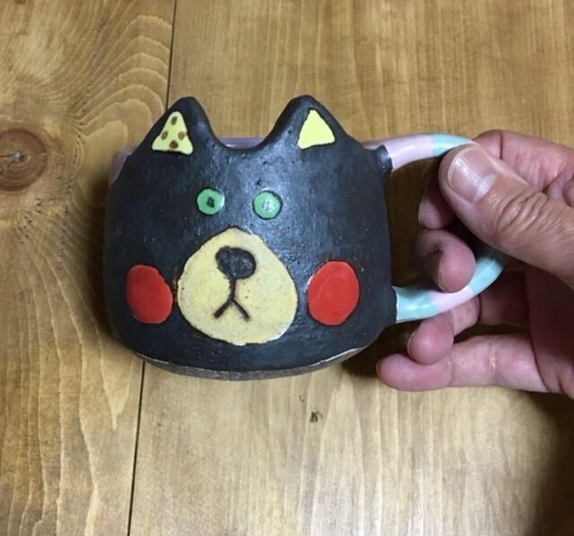 小林美風 クロネコマグカップ