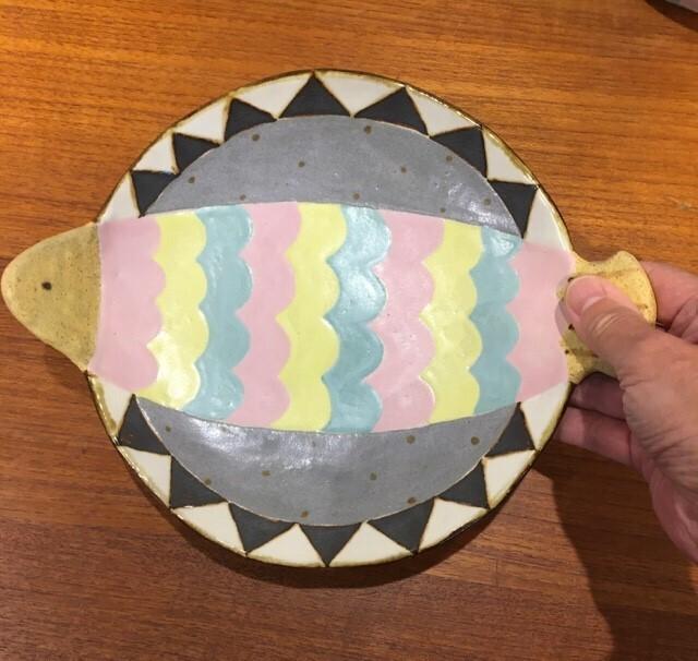 小林美風 魚丸皿