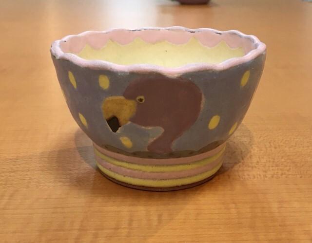 小林美風 飯碗 フラミンゴ