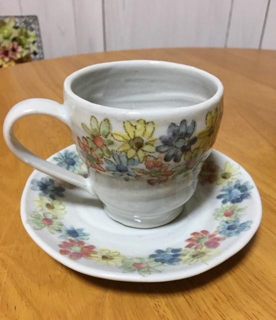 火音陶房 小花のカップ&ソーサ