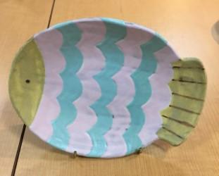 小林美風 魚 皿
