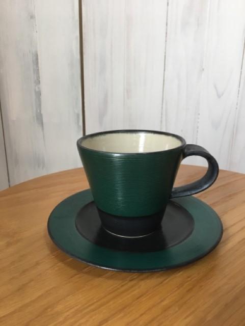 沖 誠 マグカップ グリーン