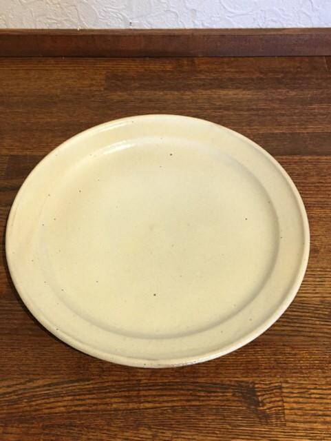 鉄散 リム8寸皿 (玉渕)