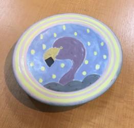 小林美風 丸皿 フラミンゴ