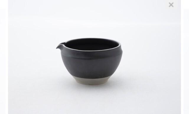 ORIGAMI 片口抹茶茶碗 (ビンテージブラック)