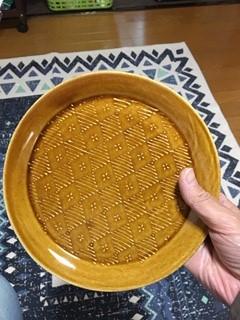 豊田 雅代 いっちん丸皿 飴色