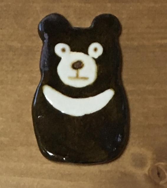 小林美風 ブローチ クマ