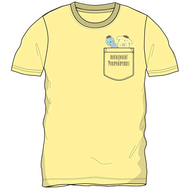 プリンxぼのぼの ポケット付半袖Tシャツ(クリーム)