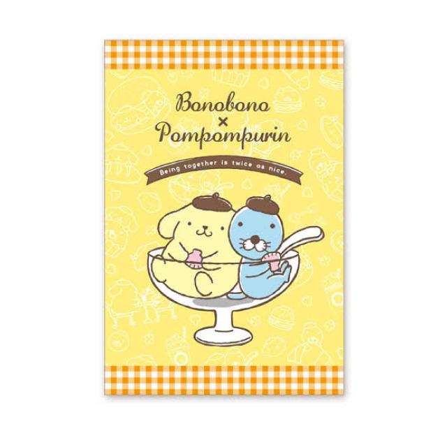 ぼのぼの×ポムポムプリン ポストカード(パフェ)