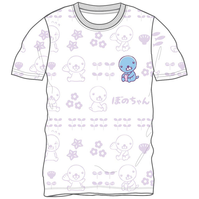ぼのちゃん 総柄半袖Tシャツ(ホワイト)