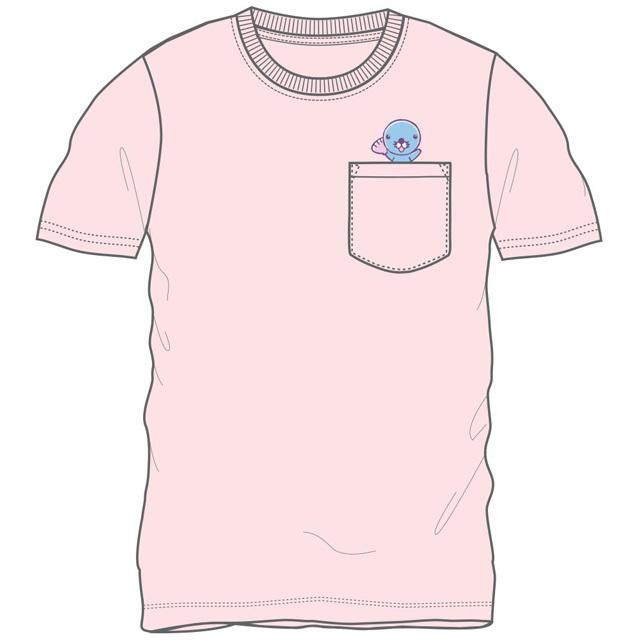 ぼのちゃん ポケット付半袖Tシャツ(ピンク)