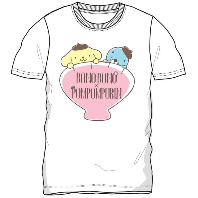 プリンxぼのぼの 半袖Tシャツ(ホワイト)