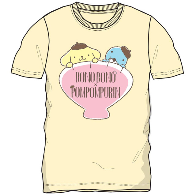 プリンxぼのぼの 半袖Tシャツ(Lクリーム)