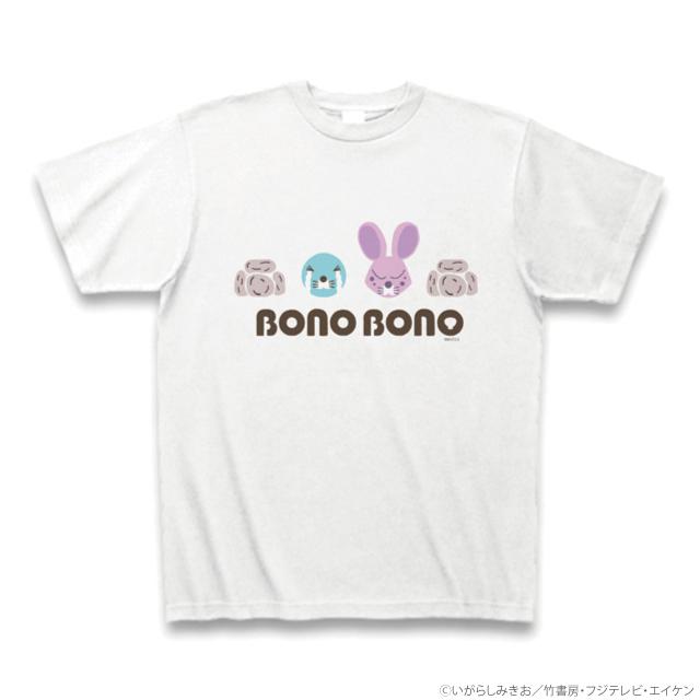 ぼのぼの&しまっちゃうおじさん カレッジ風Tシャツ(ホワイト)